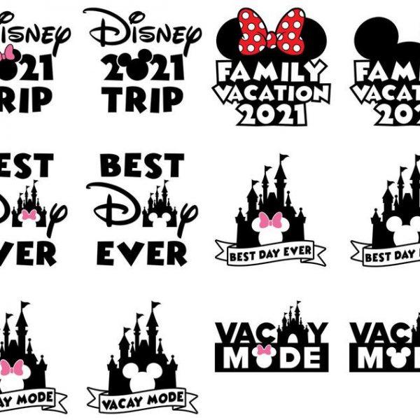 Best Day Ever SVG Disney Trip SVG Vacay Mode SVG Disney Vector SVG Files