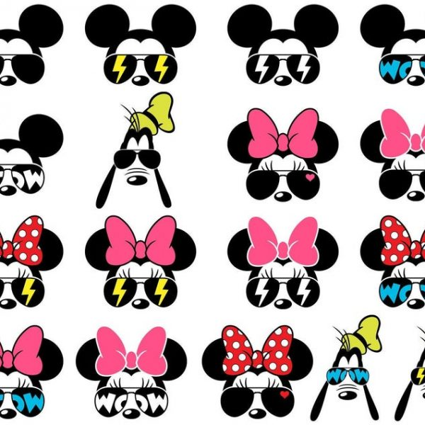 Mickey SVG Sunglasses Mickey Mouse SVG Minnie Bow SVG