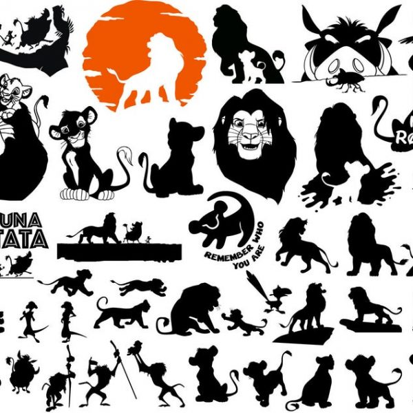 Lion King SVG, Simba SVG, Hakuna Matata, Lion SVG, For Cricut, For Silhouette, Cut Files, Vector, Digital File, Dxf, Eps, Png, Svg