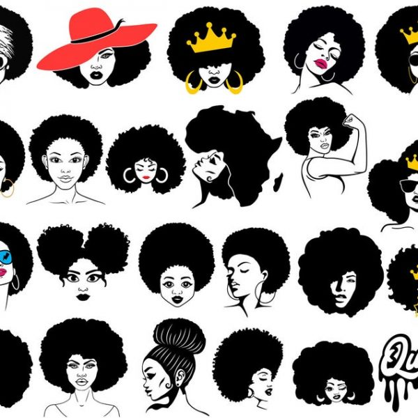 Afro Woman SVG Pack