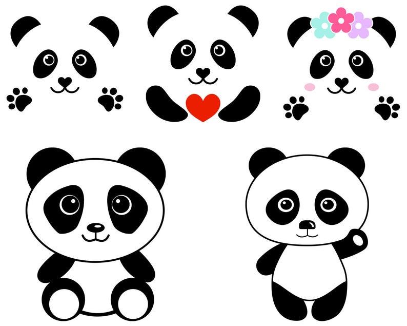 Cute As A Panda Cricut SVG File