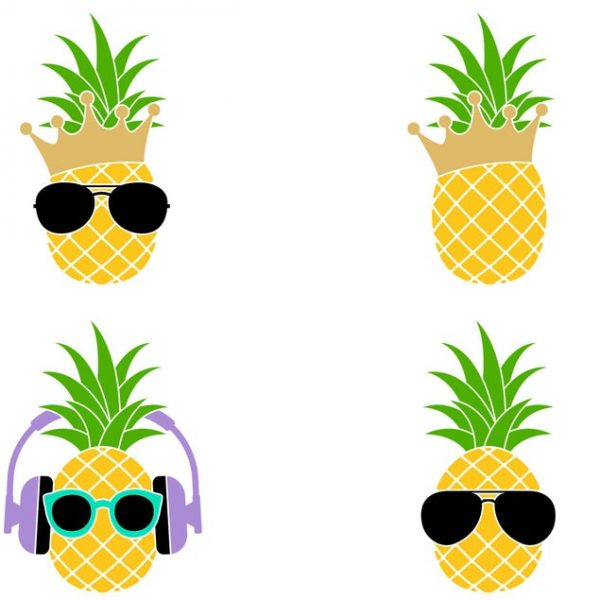 Pineapple SVG, Pineapple Sunglasses SVG, Pineapple Clipart, For Cricut, For Silhouette, Cut Files, Vector, Shirt Design, Summer Dxf, Png