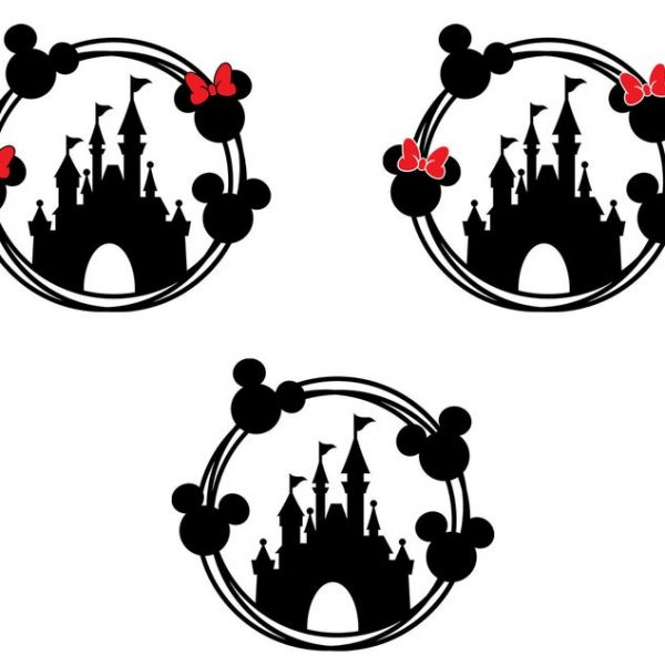Mickey Mouse SVG, Minnie Mouse SVG, Disney Castle Svg, Clipart, For Cricut, For Silhouette, Cut File, Vector, Vinyl File, Png, Dxf, Svg File