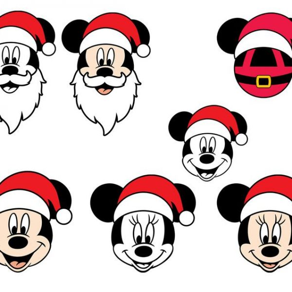 Mickey Christmas SVG, Disney Christmas SVG, Mickey Santa SVG, Holiday, Minnie, Christmas, Cricut, Silhouette, Cut Files, Clipart, Dxf, Png