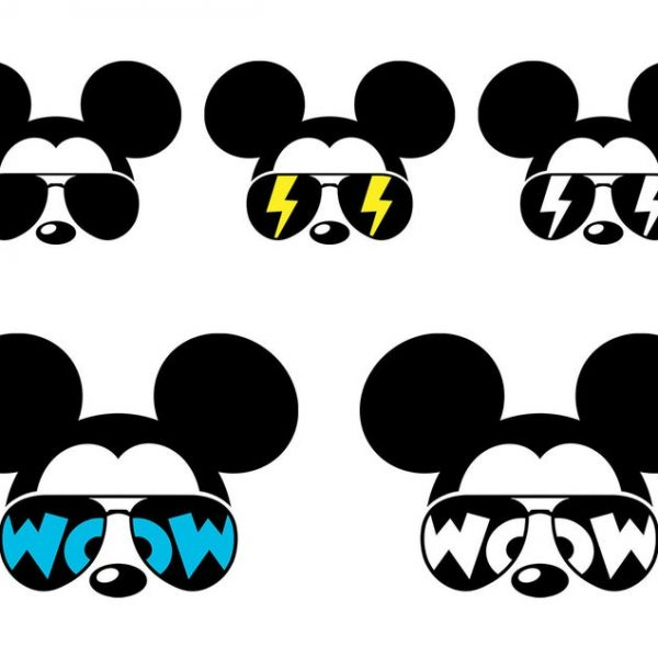 Mickey SVG Sunglasses, Mickey Mouse SVG, Minnie Bow Svg, Minnie Sunglasses Svg, Disney SVG, Cricut, Silhouette, Cut File, Clipart, Png