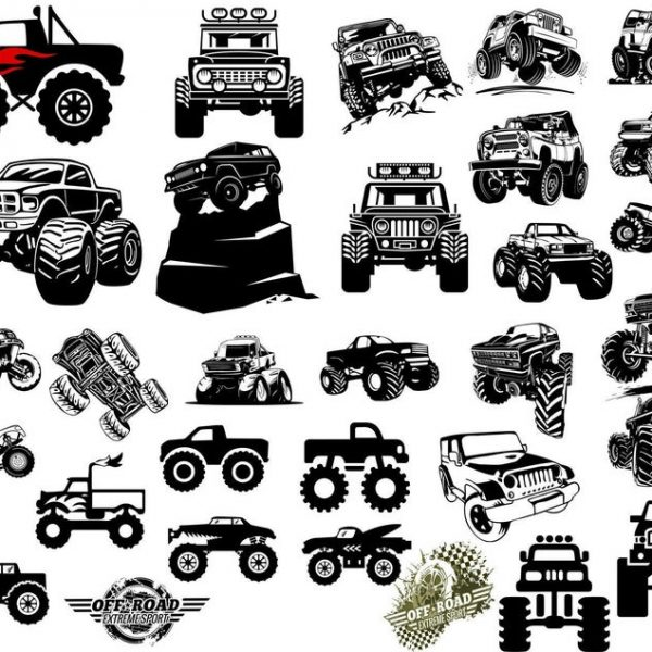 Monster Truck SVG, Truck Svg, Off Road Svg, Vehicle, Car, For Cricut, For Silhouette, Cut File, Vector, Vinyl File, Eps, Dxf, Png, Svg