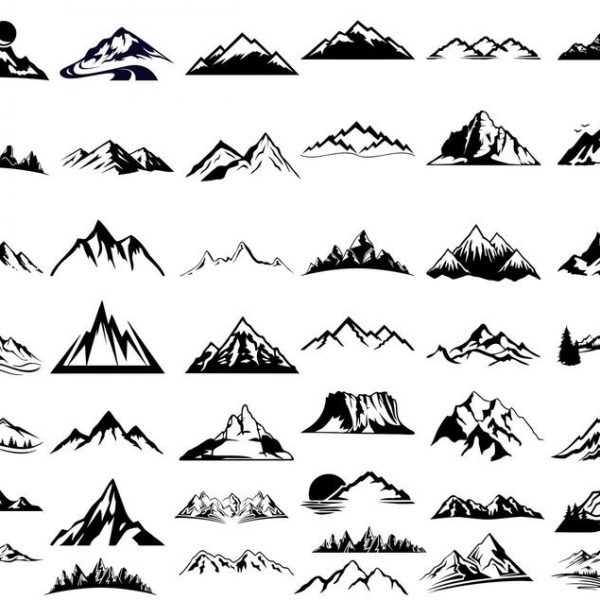 Mountain SVG, File For Cricut, For Silhouette Cut Files, Vector, Digital File, Mountains SVG, Dxf, Eps, Png, Svg