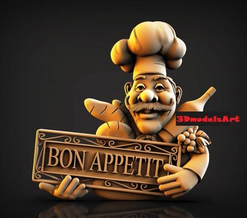 Bon Appetit 3D STL Model for CNC and 3D Printer