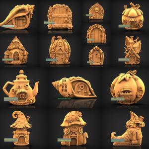 Fairy Door and House 3D STL Models Set