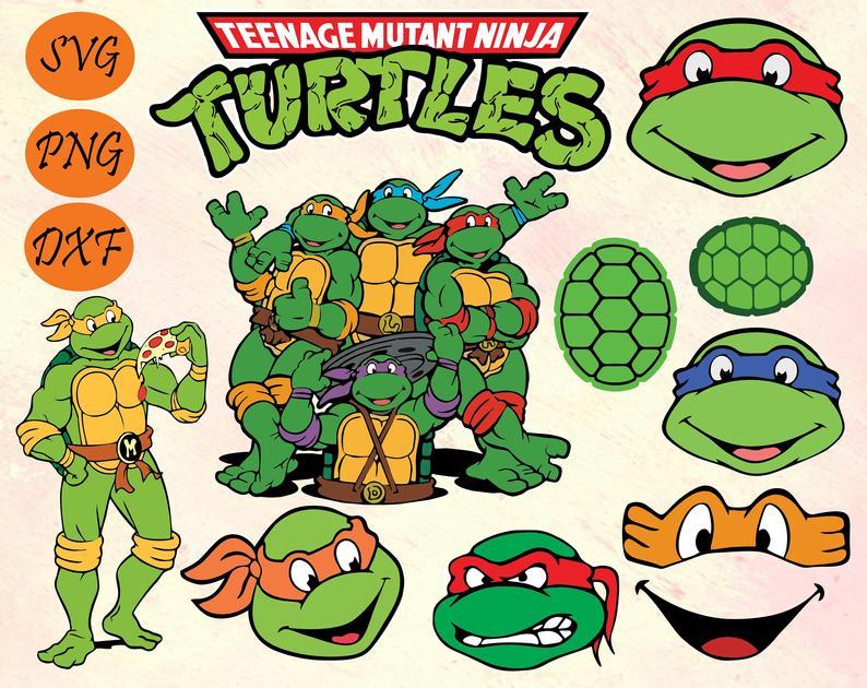 Ninja Turtles SVG, PNG, DXF Vector Files
