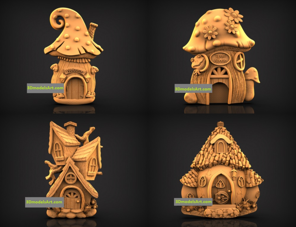 Fairy Door and House 3D STL Models Set