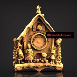 Fairy Wall Clock 3D STL Model